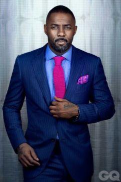 Idris - suit and tie