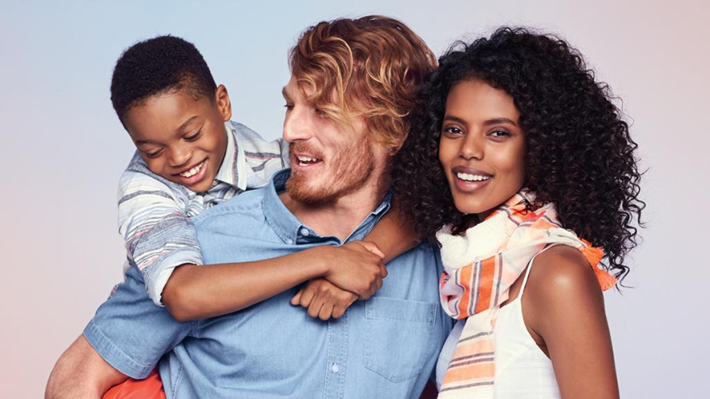 Old Navy posts ad featuring interracial family
