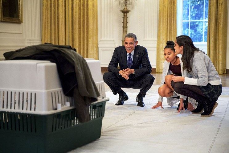 Sasha and Malia and Prez