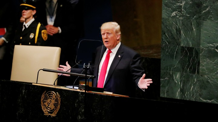 U.S. President Trump addresses the 73rd session of the United Nations General Assembly at U.N. headquarters in New York