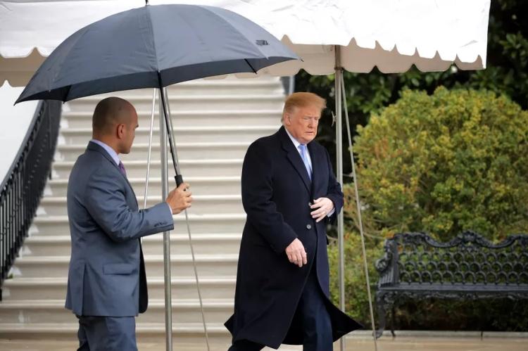 Trump in Rain